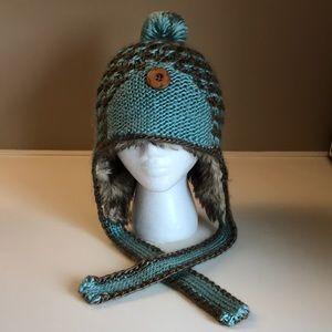 Pistil winter snow ski hat blue brown
